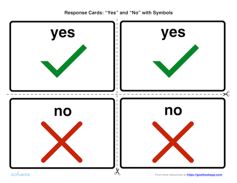 Small Print Response Cards: Yes and No