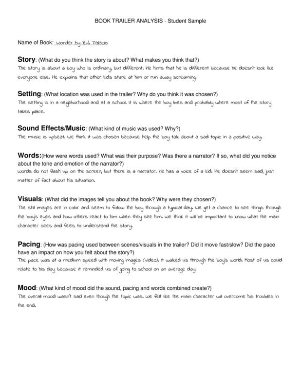 how to make a book trailer