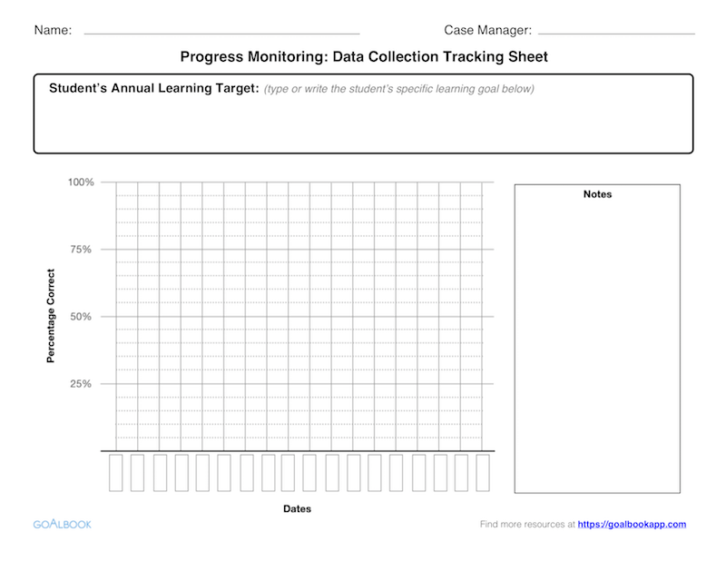 image regarding Printable Iep Goal Tracking Sheets titled Developments Checking UDL Tips - Goalbook Toolkit