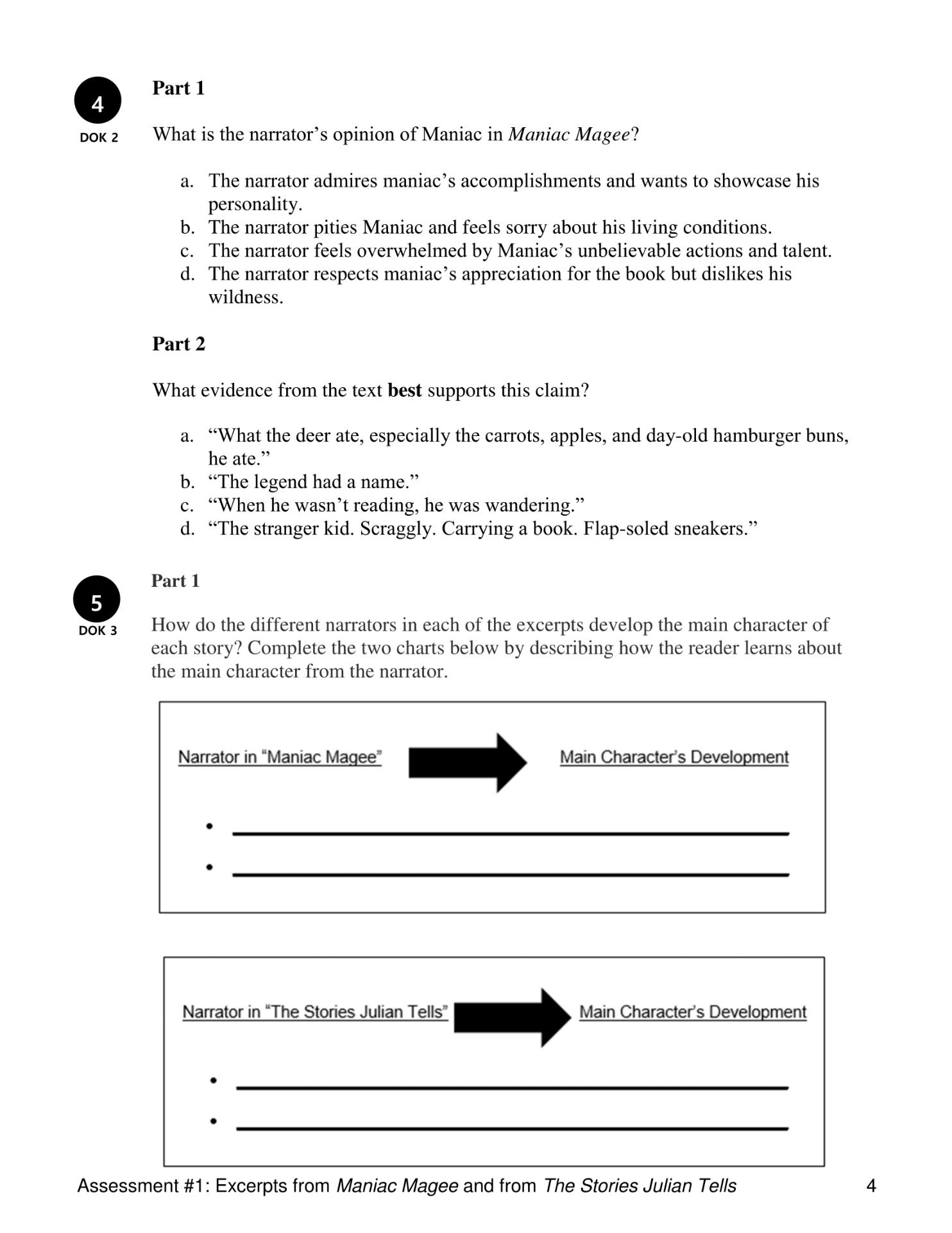 worksheet The Stories Julian Tells Worksheets literature grade 4 goalbook pathways full resource contains