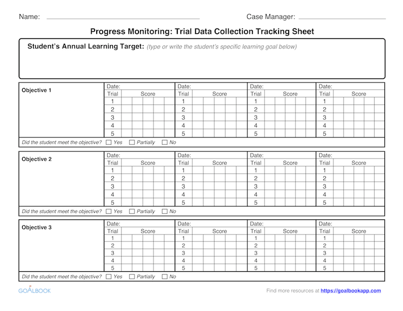 photograph regarding Progress Monitoring Charts Printable named Breakthroughs Checking UDL Options - Goalbook Toolkit