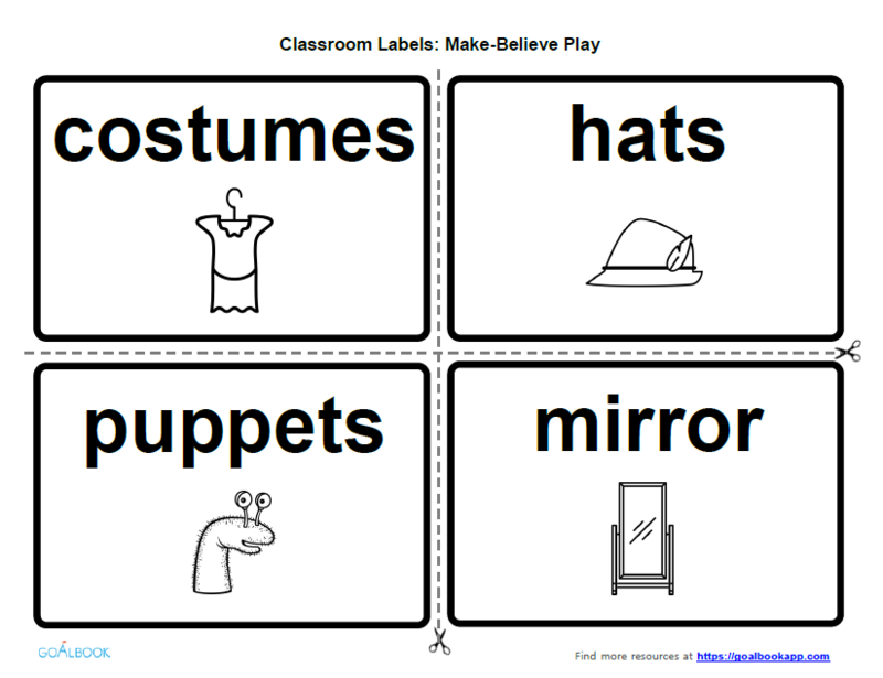 Labels for Make-Believe Play