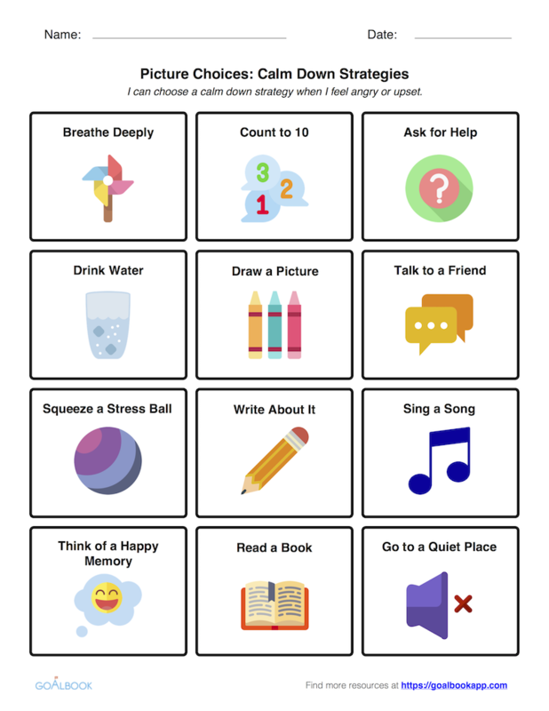 Calming Strategies | UDL Strategies - Goalbook Toolkit