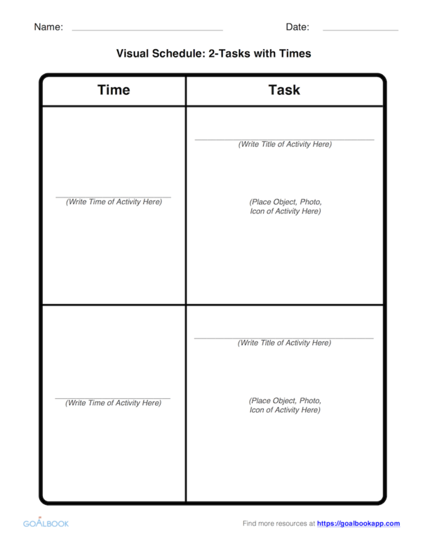 visual task schedule udl strategies
