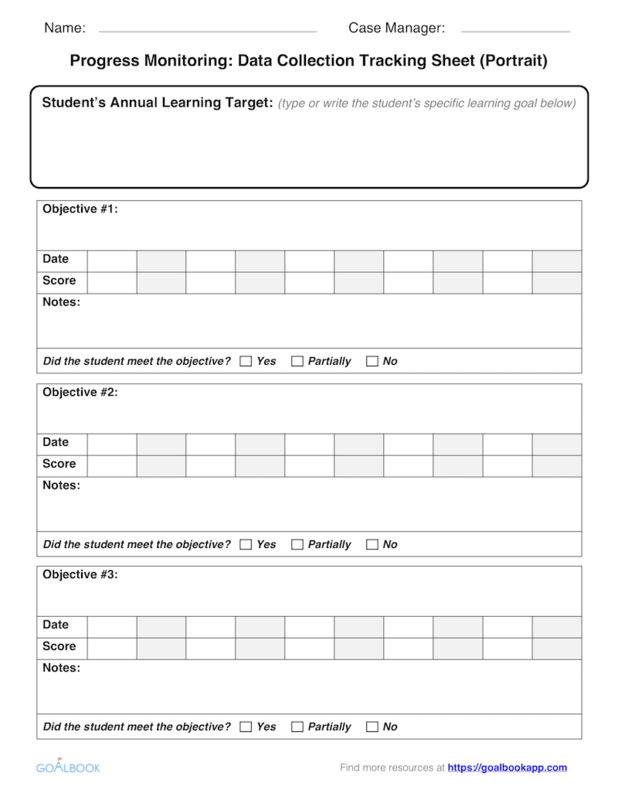 photograph regarding Printable Iep Goal Tracking Sheets named Advancements Checking UDL Tips - Goalbook Toolkit